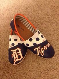 Detroit Tigers Canvas Shoes by shoeweet on Etsy, $60.00. My dancing shoes for the wedding?