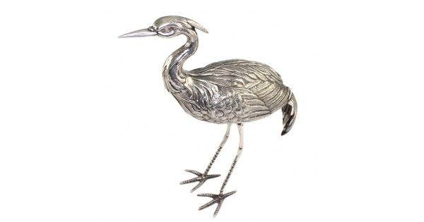 Piesa decorativa din argint pentru centru de masa - Egreta - Spania