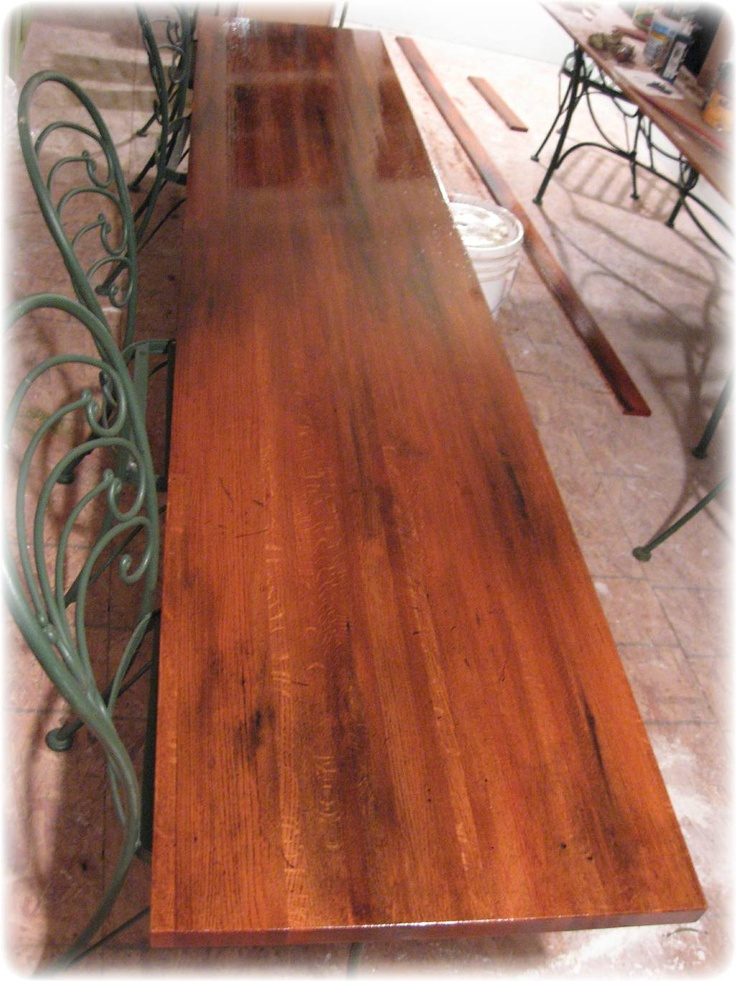 Incredible Job At Distressing Wood With Mostly Natural Products: Coffee  Grounds For The Stain!