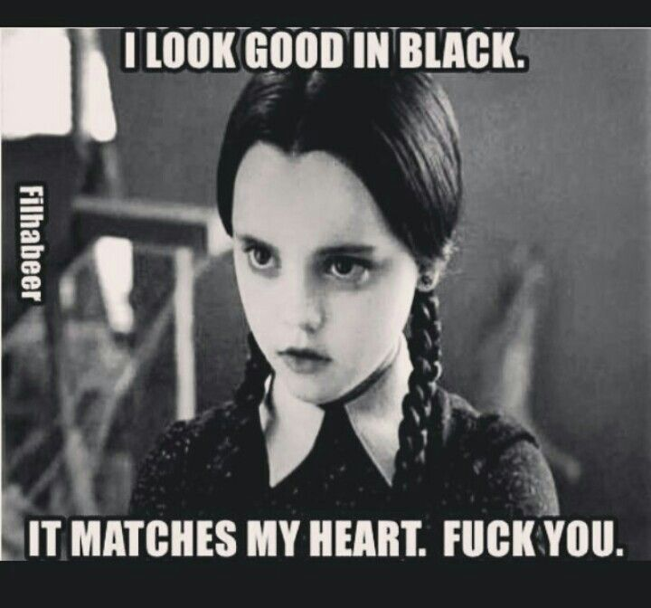 I look good in black More