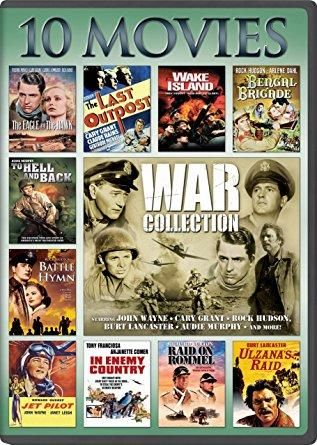 Burt Lancaster & Alan Hale Jr. - War, 10-Movie Collection: The Eagle and The Hawk / The Last Outpost / Bengal Brigad / Jet Pilot / Ulzana's Raid / To Hell and Back / In Enemy Country / Raid on Rommel / Battle Hymn / Wake Island