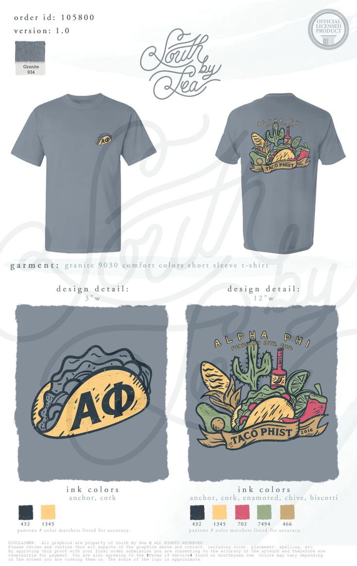 Alpha Phi | A Phi | Taco Phist | Taco Tuesday Theme Shirt Design | South by Sea | Greek Tee Shirts | Greek Tank Tops | Custom Apparel Design | Custom Greek Apparel | Sorority Tee Shirts | Sorority Tanks | Sorority Shirt Designs