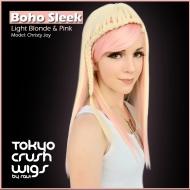 Boho Sleek - Light Blonde & Pink Boho Waves- Light Blonde $46.99 with free shipping within the U.S.