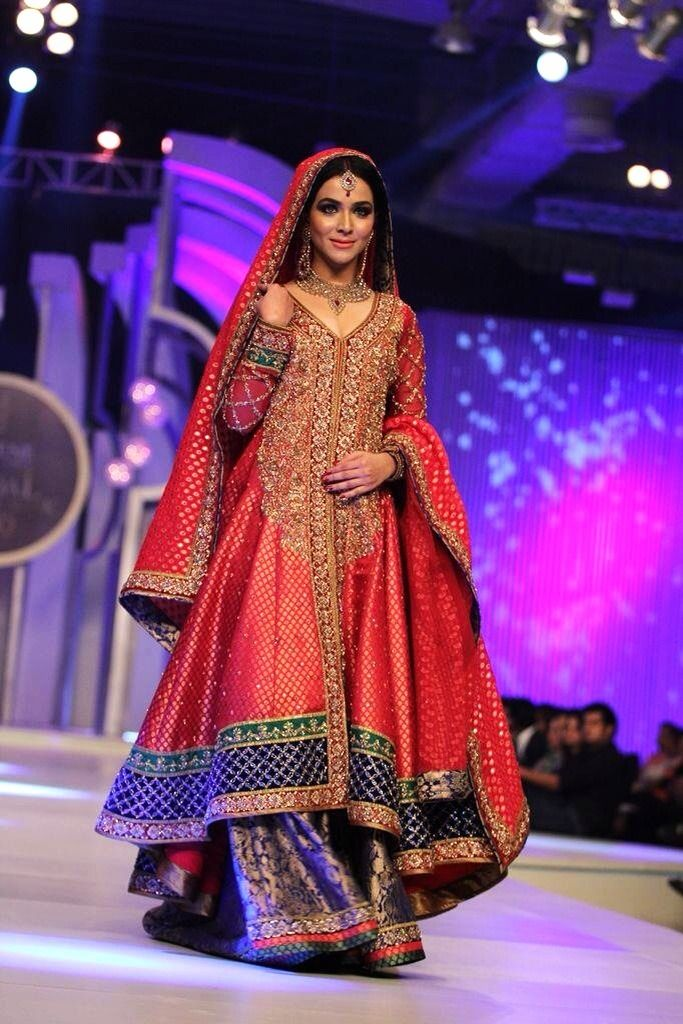 Pak Couture Vibrant Colors Royal Blue With Dark Red