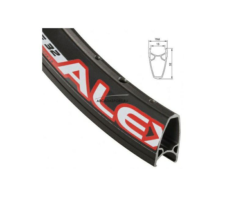 Обод AlexRims Race32, 622x15 мм, двойной, профиль 32 мм, черный, 32 отверстия, F/V - ARCADASPORT.RU