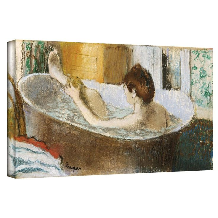 'Woman in her Bath, Sponging her Leg' by Edgar Degas Gallery-Wrapped on Canvas
