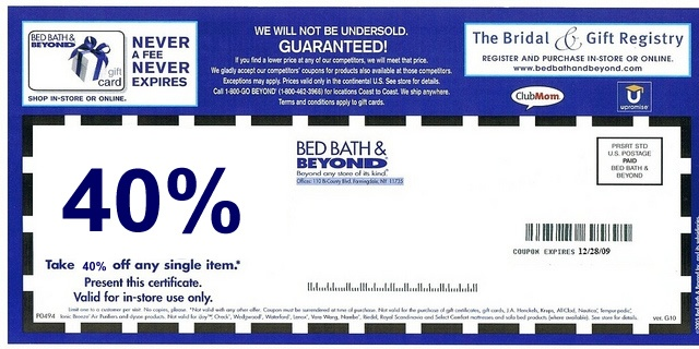 bed bath and beyond coupon coupons