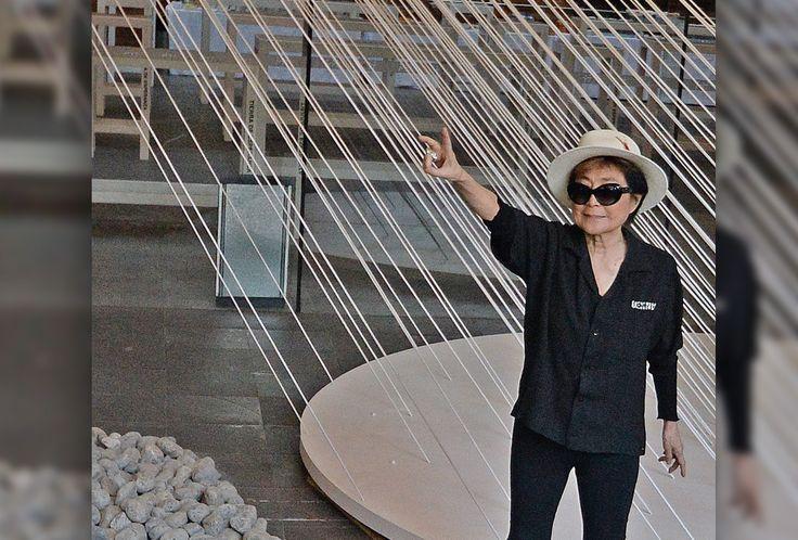 Relexiones de Yoko Ono en su visita a México