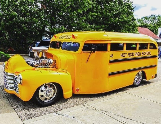 The best school name and the best school bus HOT ROD HIGH