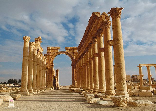 by whl.travel on Flickr.  Roman ruins of Palmyra - near Damascus, Syria.