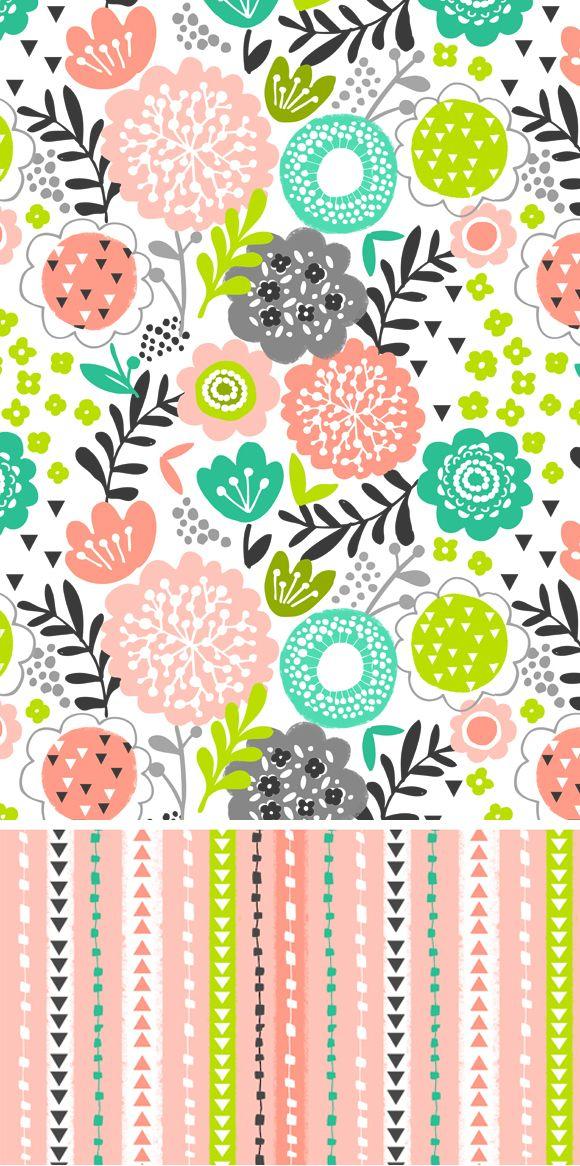 wendy kendall designs – freelance surface pattern designer » flora garden