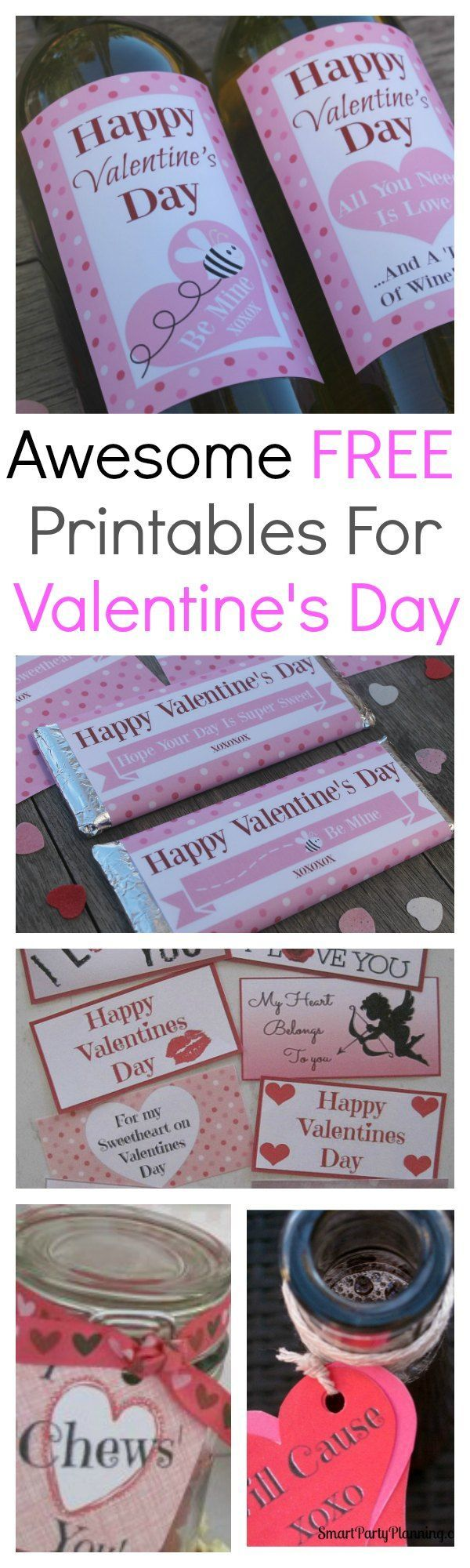 FREE printable's for Valentine's day.  Awesome selection of Valentine's printable's available for immediate download.  Can be used as gifts for him, for the kids, decorations, tags, and lots of Valentine's fun.  Put your heart into your gift and make it with love. #Valentines #Freeprintables #Love