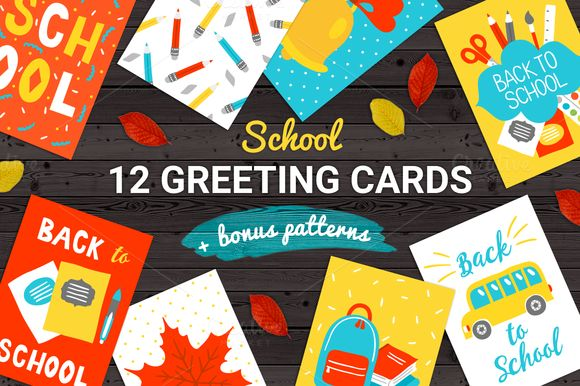 12Cards +Bonus Patterns by miumiu on @creativemarket