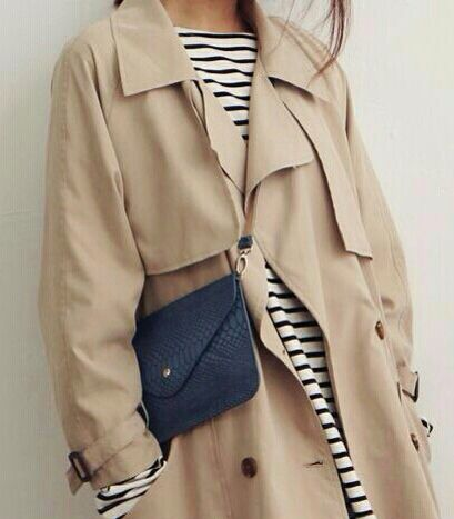Trench / stripes / bag