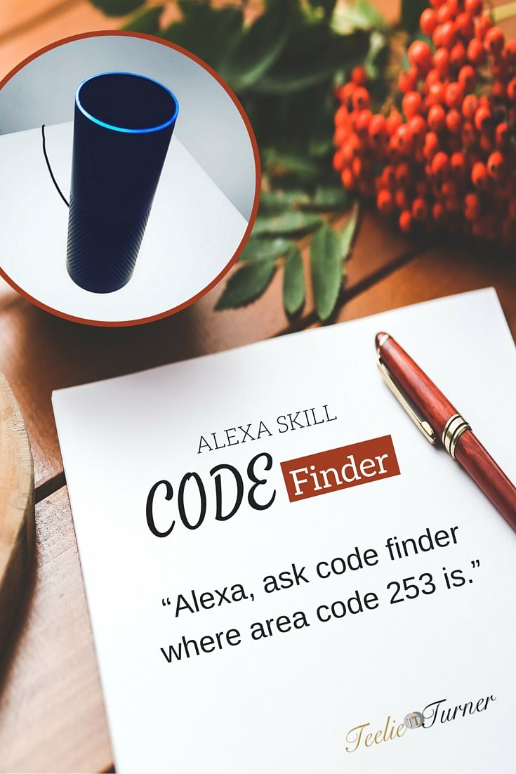 Code Finder - www.theteelieblog.com Bravo! You can now find information based on area code, postal code or US city using your Alexa. #alexaskills