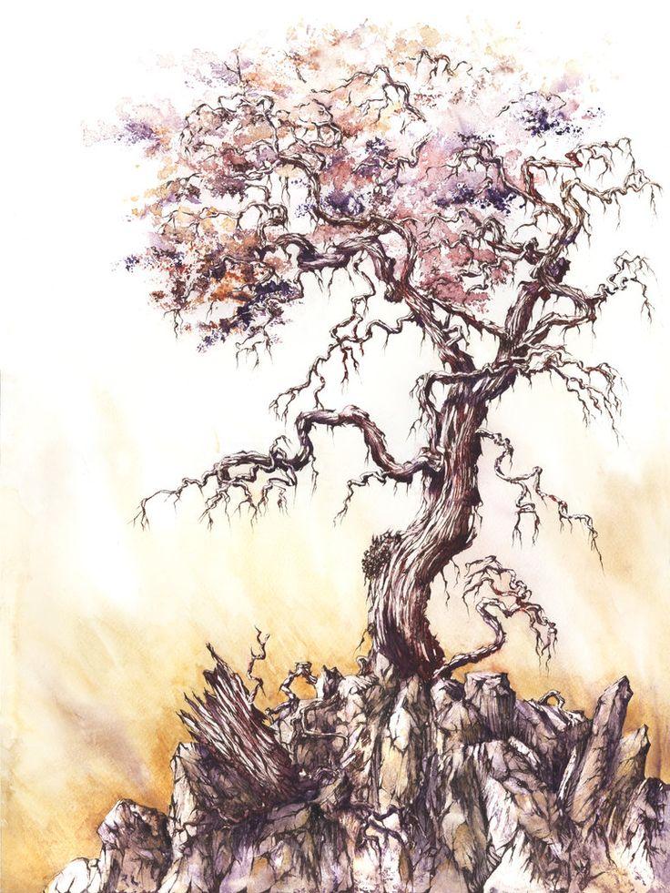 Autumn Tree by GrimDreamArt on deviantART