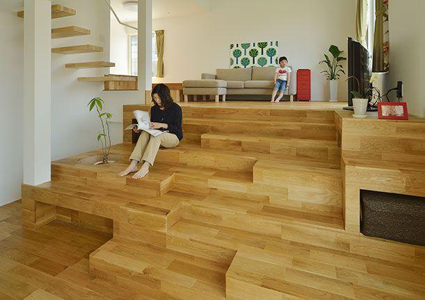階段が棚・椅子・机に変化する家・間取り(千葉県木更津市) | 注文住宅なら建築設計事務所 フリーダムアーキテクツデザイン