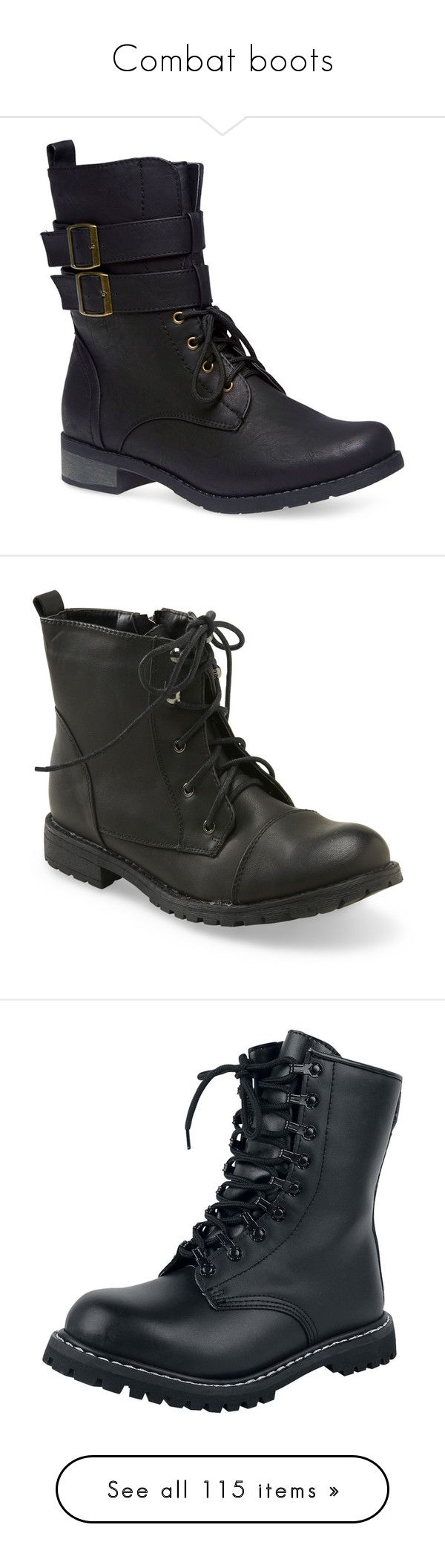 """""""Combat boots"""" by teacupunicorn ❤ liked on Polyvore featuring shoes, boots, ankle booties, black, ankle boots, black ankle boots, low heel ankle boots, black low heel booties, lace up booties and sapatos"""