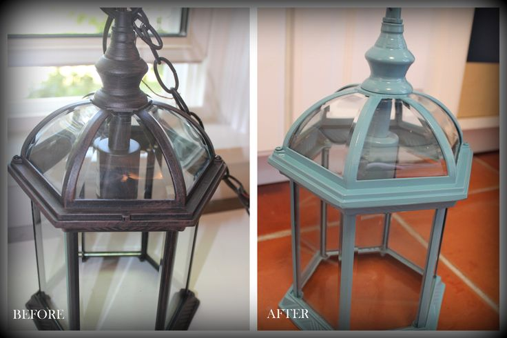 before and after - indoor lantern