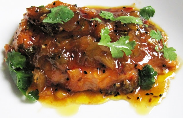 Spicy Mango and Chilli Topped Chicken   A Glug of Oil