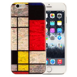 Mother of Pearl iPhone 6 Case with Geometric Checker Design
