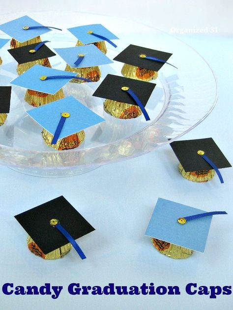 Make these adorable Candy Graduation Caps as party favors or as gifts for graduates.