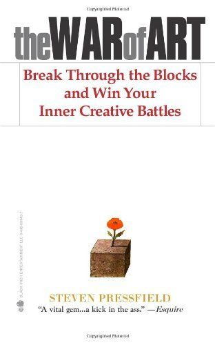The War of Art: Break Through the Blocks and Win Your Inner Creative Battles by Steven Pressfield, http://www.amazon.com/dp/1936891026/ref=cm_sw_r_pi_dp_K7UUpb1C8NQAAWorth Reading, Creative Battle, Steven Pressfield, Book Worth, Art, Inner Creative, Wars, The Block, Breaking