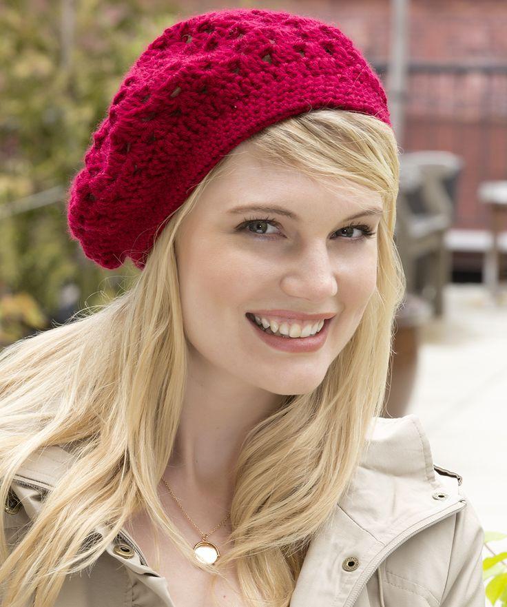 Bridgettes Baskenmütze Gratis Häkelmuster #Häkeln #Soft #RedHeart