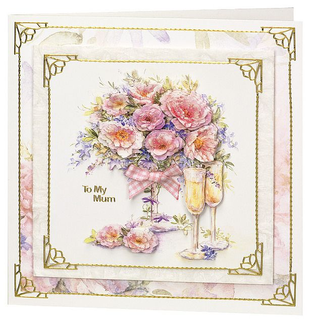Craft Creations die cut decoupage - DCD647 - Soft Pink Roses