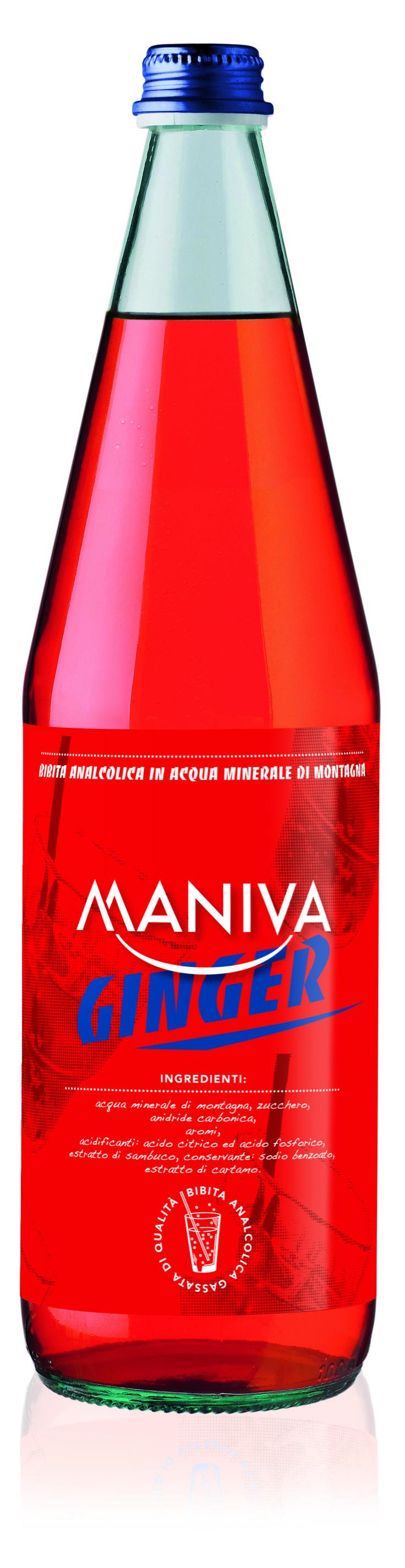 GINGER Bibita analcolica frizzante, di alta qualità garantita anche dalla leggera acqua minerale di montagna di cui è composta