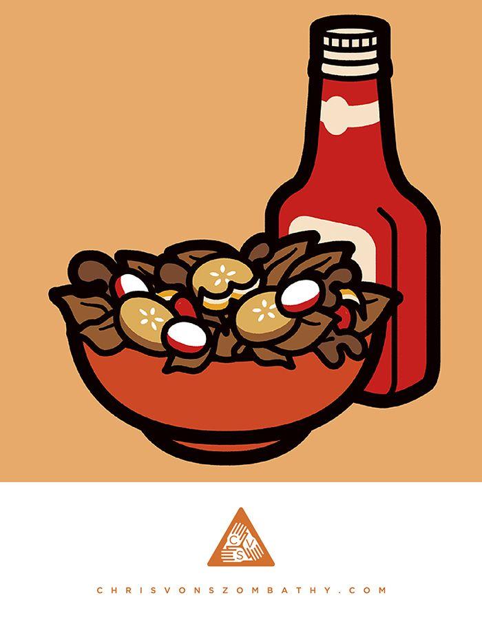 """""""Bad Salad"""" an illustration by artist/designer Chris von Szombathy."""