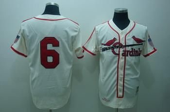 http://www.xjersey.com/cardinals-6-stan-musial-cream-mn-jerseys.html CARDINALS 6 STAN MUSIAL CREAM M&N JERSEYS Only $34.00 , Free Shipping!