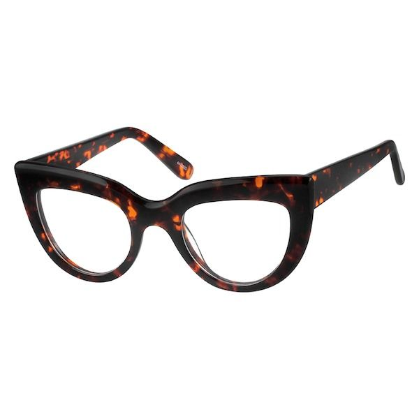 6c554ae72bd1d Zenni Womens Retro Cat-Eye Prescription Eyeglasses Tortoiseshell Plastic  4412625
