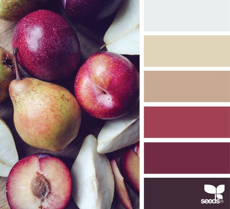 Die Farbpalette zum Malen von Äpfeln
