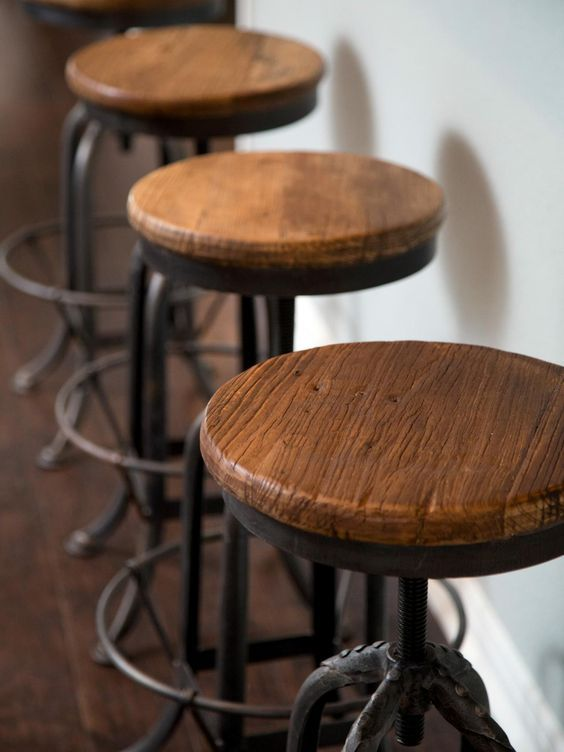 Find this Pin and more on Joanna Gaines Style. Our barstools! - Best 25+ Industrial Bar Stools Ideas On Pinterest Rustic Bar