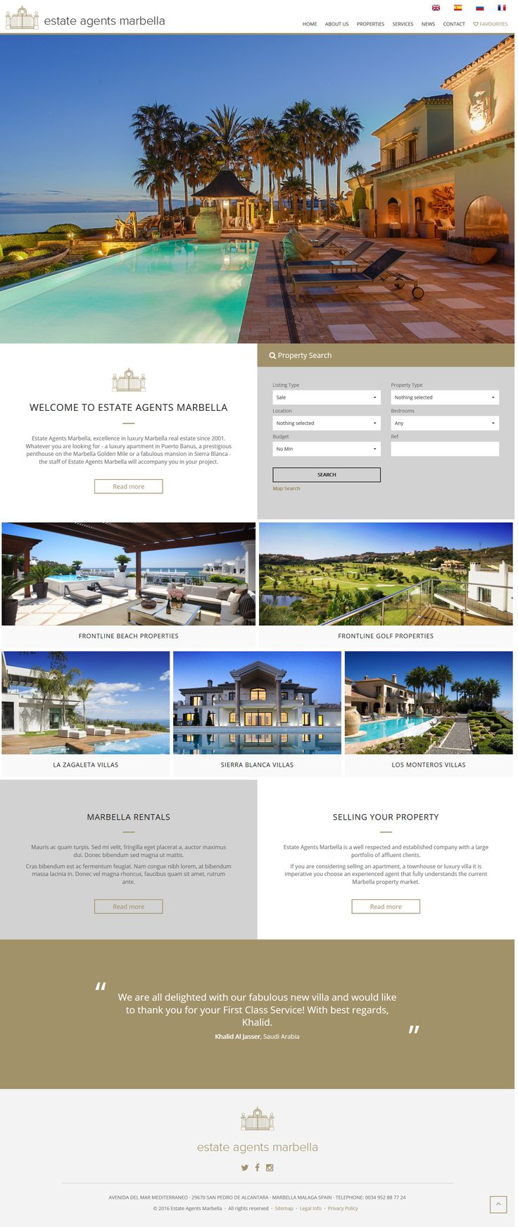 Estate Agents Marbella, excellence in luxury Marbella real estate since 2001. Whatever you are looking for - a luxury apartment in Puerto Banus, a prestigious penthouse on the Marbella Golden Mile or a fabulous mansion in Sierra Blanca - the staff of Estate Agents Marbella will accompany you in your project. #RealEstate #Marbella #qresXML #ResalesOnline