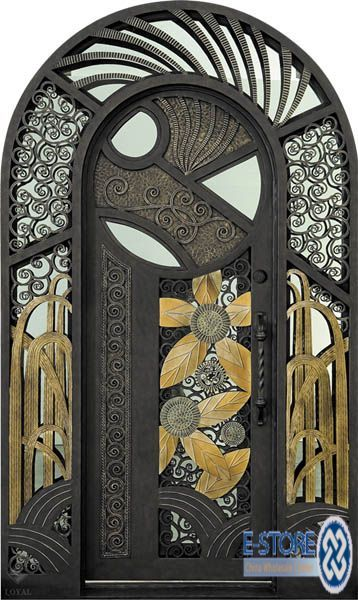 wild Art Deco door.