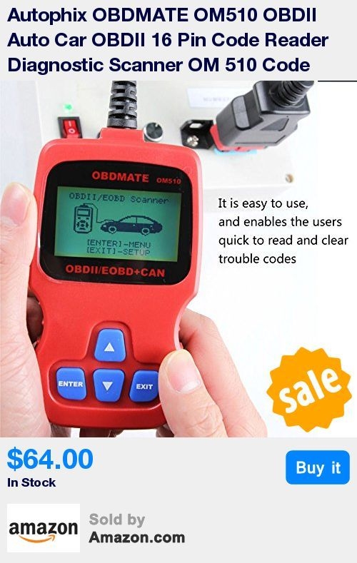 """The AUTOPHIX OBDMATE OM510 Code Reader is designed to work on all 1996 and later OBDII compliant US, European and Asian vehicles * It is easy to use, and enables the users quick to read and clear trouble codes. OM510 supports ALL OBD II protocols: CAN, J1850 PWM, J1850 VPW, ISO9141 and KWP2000. It is a perfect and fully functional On-Board diagnostics tool * Works on all after 1996 OBD II compliant US, European and Asian vehicles * Easily determines the cause of the """"Check Engine Light ( MIL"""