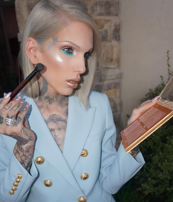 "Jeffree: ""still don't have a date, but at least my highlight looks good"" he smiles small"