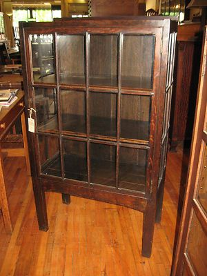 antique mission oak small china cabinet display case michigan chair co gru2026