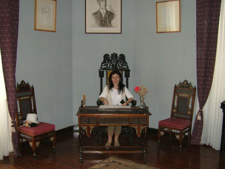 The desk of the Greek Poet Kavafis who lived in Alexandria.