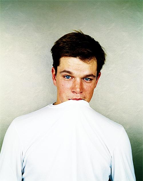 Matt Damon looking adorable