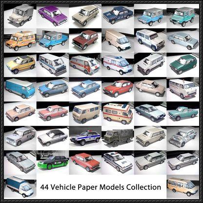 44. Gépjármű papír modellek ingyenes sablonok letöltése