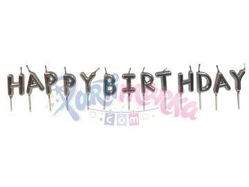 Doğum Günü Mumu Gümüş Renk Lüx