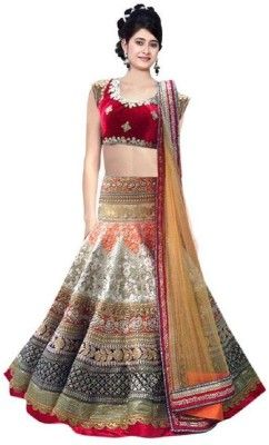 21061d3a0 juvila Embroidered Women s Lehenga
