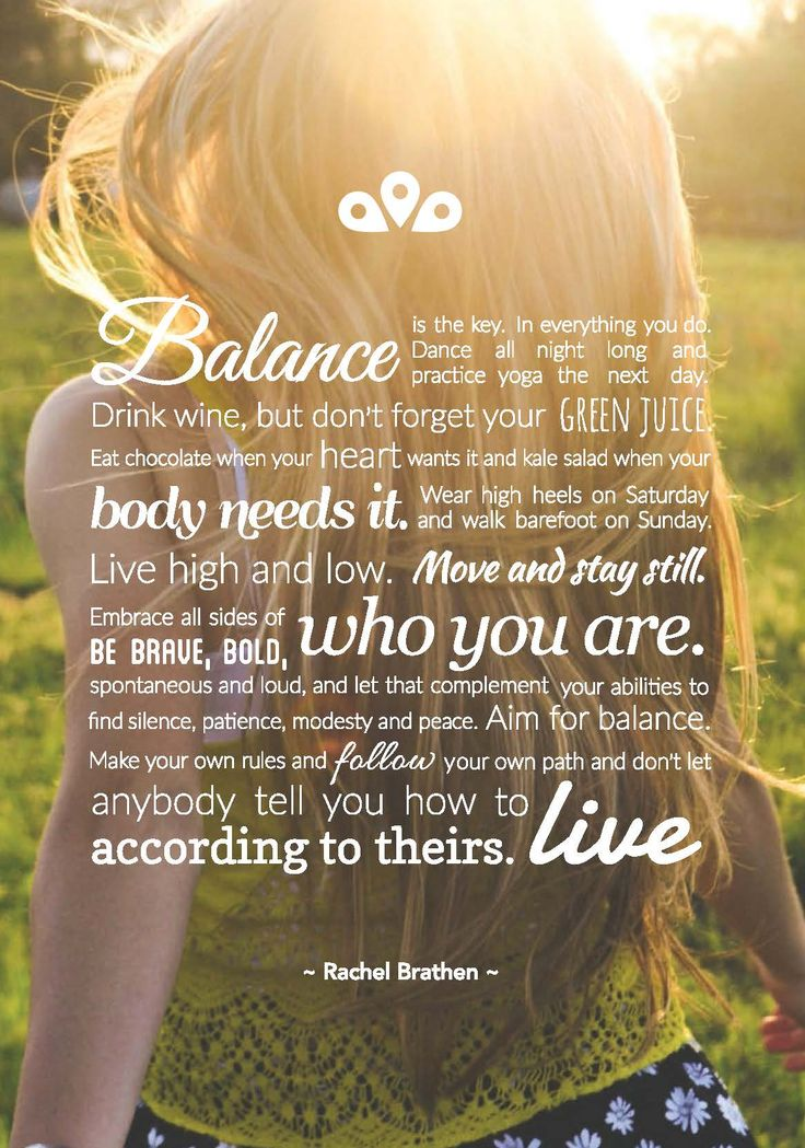 Balance is the key in everything we do.  Download this poster from www.greengoodnessco.com.au/free-download  #livingthegreen