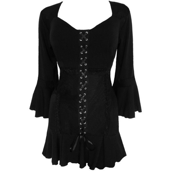 Dare To Wear Victorian Gothic Women's Plus Size Cabaret Corset Top ($60) ❤ liked on Polyvore featuring tops, dresses, corsette tops, plus size corsets, gothic corset, plus size corset tops and plus size tops