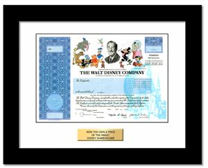 Buy stock in two minutes.  One real share framed for yourself or as a cool gift. Over 100 stocks to choose from.