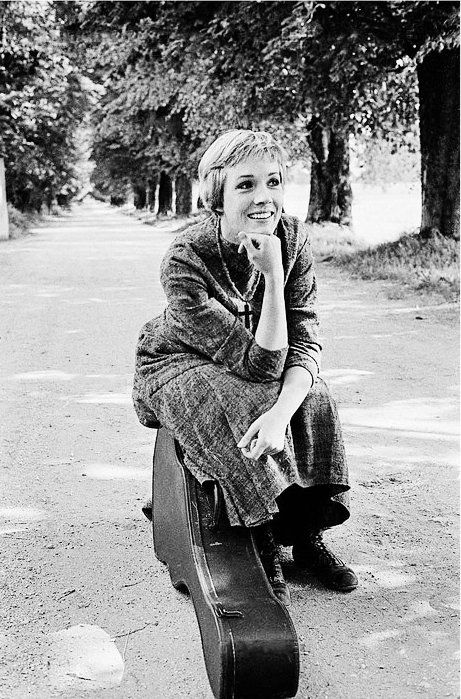 Julie Andrews having a break during the making of The Sound of Music - 1964