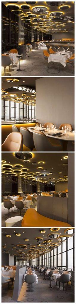 Skilled Modern Design Composition And Remarkable Views U0027Ciel De Parisu0027  Restaurant.